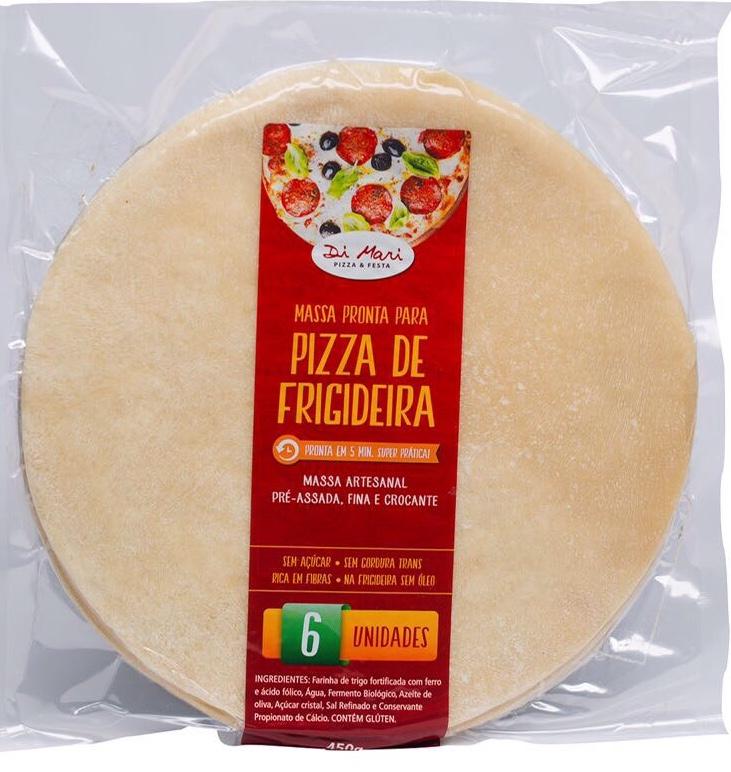 Kit de Massa de Pizza Média - 6 unidades